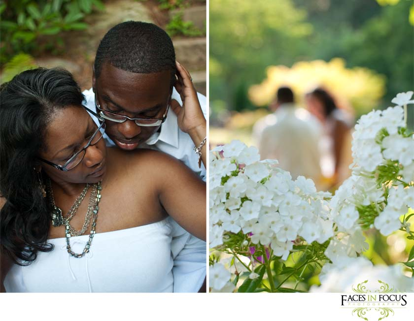 Sweet newlywed session at Sarah P. Duke Gardens.