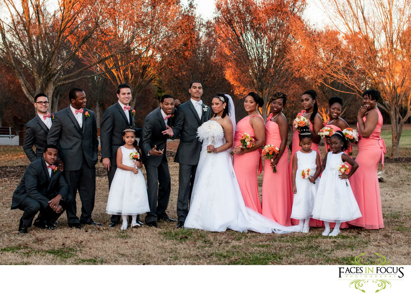 fun bridal party photograph by durham wedding photographer, silver feather studios.