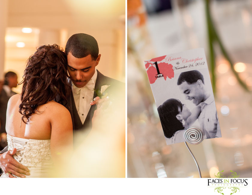 engagement photographs mark table numbers at this durham, nc wedding. photography by silver feather studios.