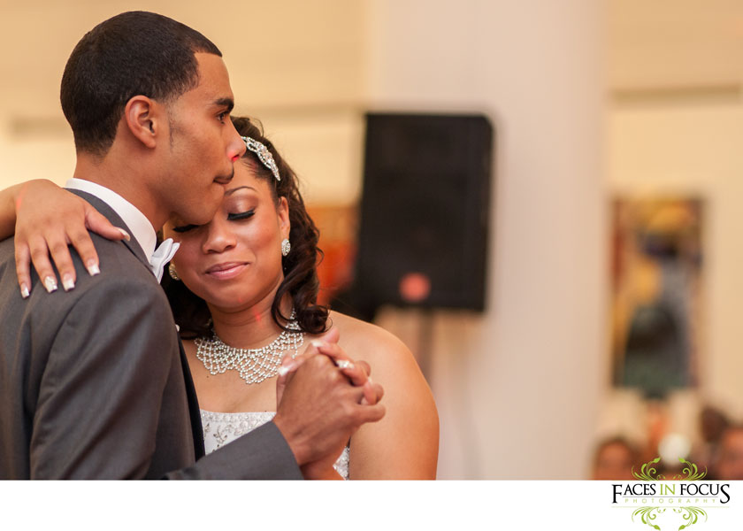the first dance, duke north pavilion wedding in durham, nc by silver feather studios.