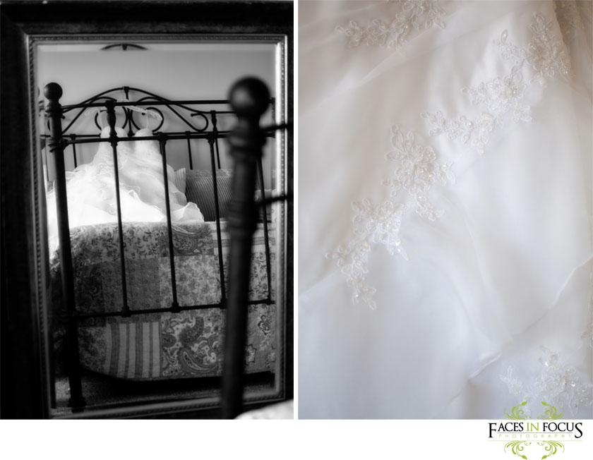 Bride's wedding gown from Bridal Mart - Burlington Wedding Photographer