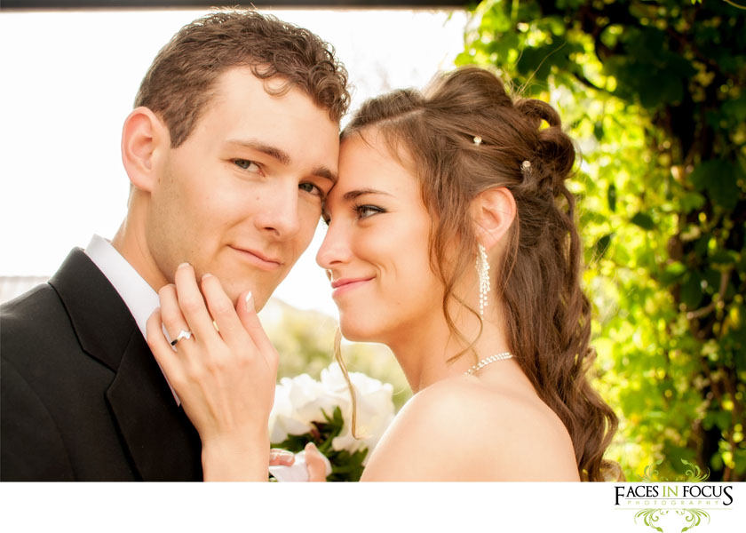 Bride and Groom at the Alamance Arts Council