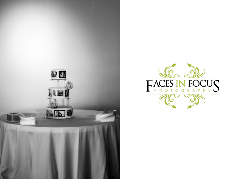 Wedding Cake set up at The Palladium Event Center in Burlington, NC