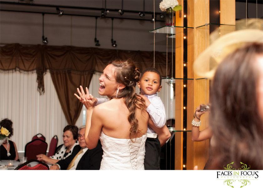 Bride dances with 2 year old in Burlington, NC