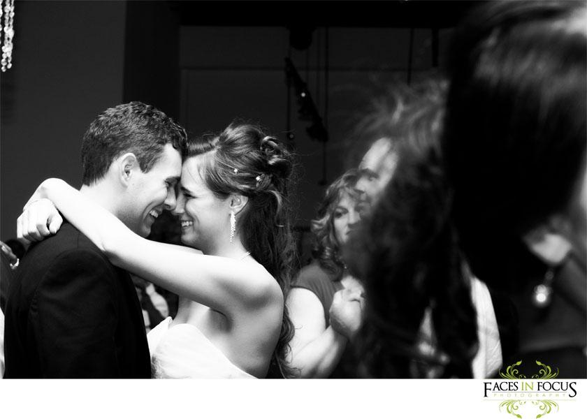 Quiet moment between bride and groom at the Palladium in Burlington, North Carolina