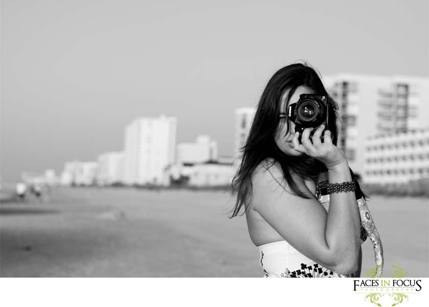 Beautiful brunette at Myrtle Beach