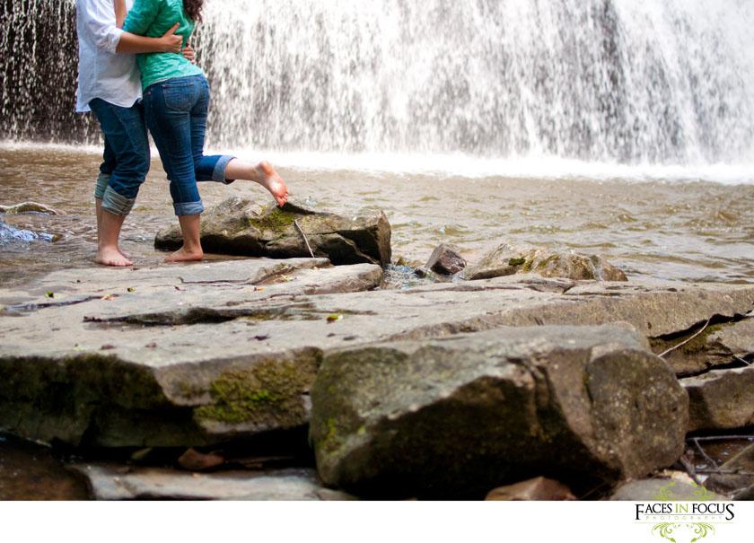Waterfall engagement in Lebanon VA.