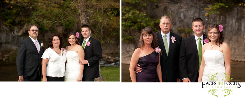 Family photos at Cliffside Catering & Grille.