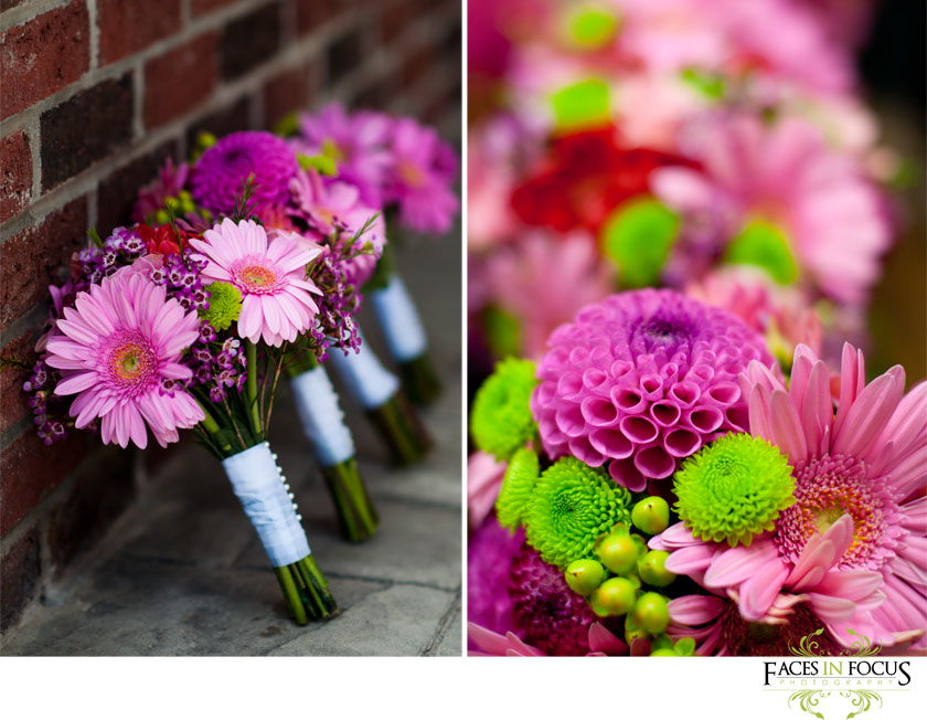 Gerbera Daisy filled bouquets.