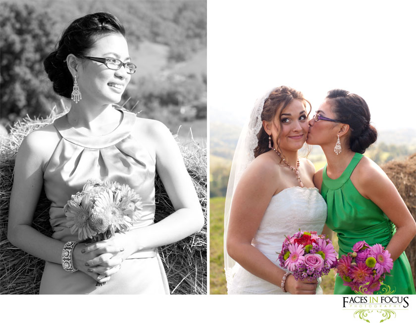 Maid of Honor Thanh with bride by Burlington Wedding Photographer.