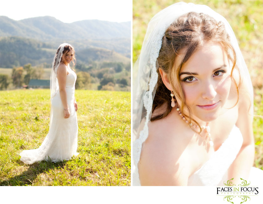 Portrait shots of bride.
