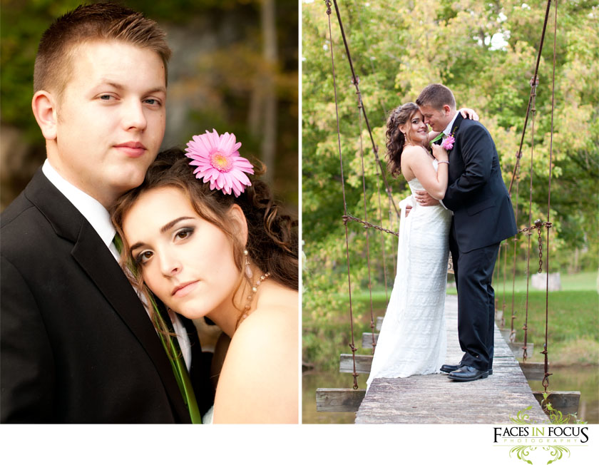 Lebanon, Virginia bride & groom.
