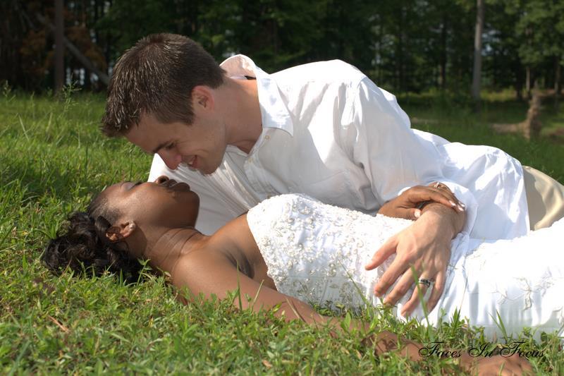 Bride in Grass - Henderson NC Wedding Photographer