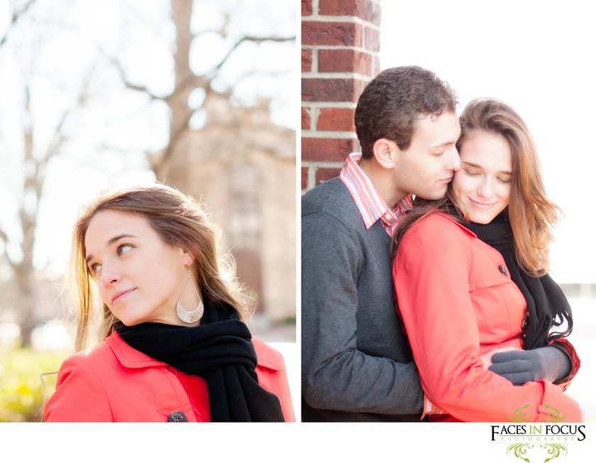 Beautiful couple on Franklin Street at UNC Chapel Hill.