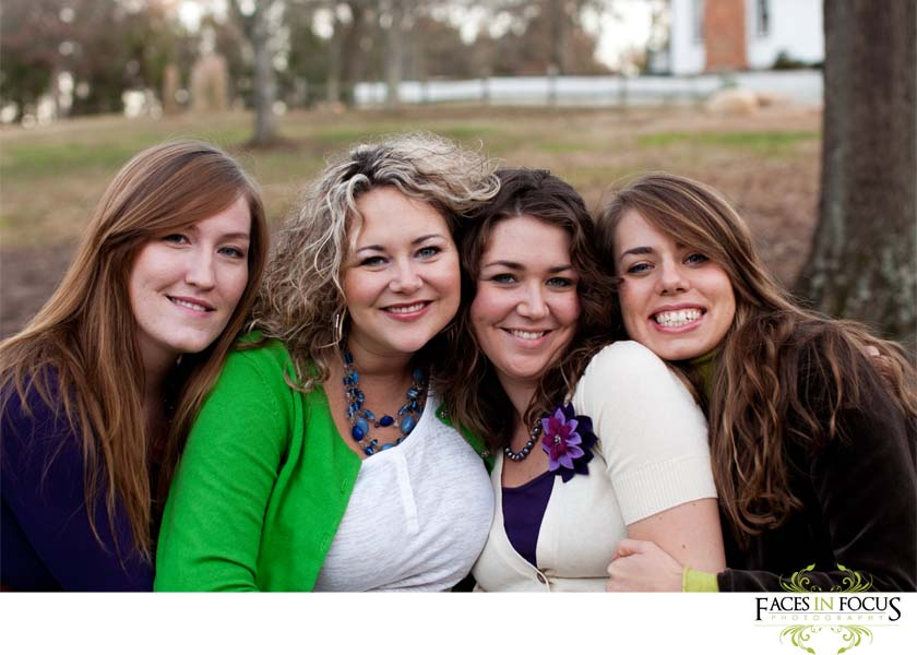 The sisters and sister in laws by Burlington Wedding Photographer.