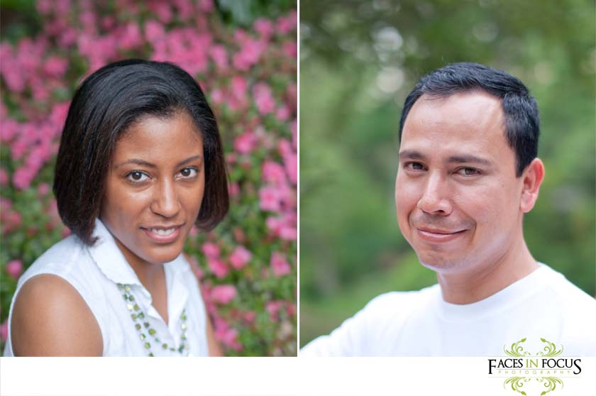 Portrait shots of the Gonzalez couple.