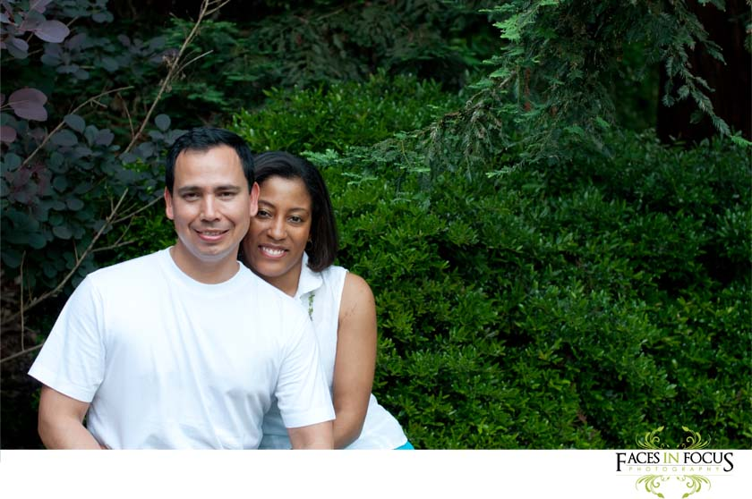 Gonzalez family photographed among the trees.