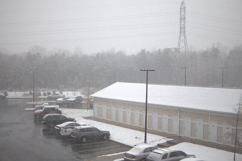 Snow covered parking lot - Burlington Lifestyle Photographer