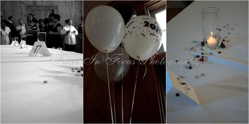 Collage of photos from a graduation party taken by Burlington Event Photographers.
