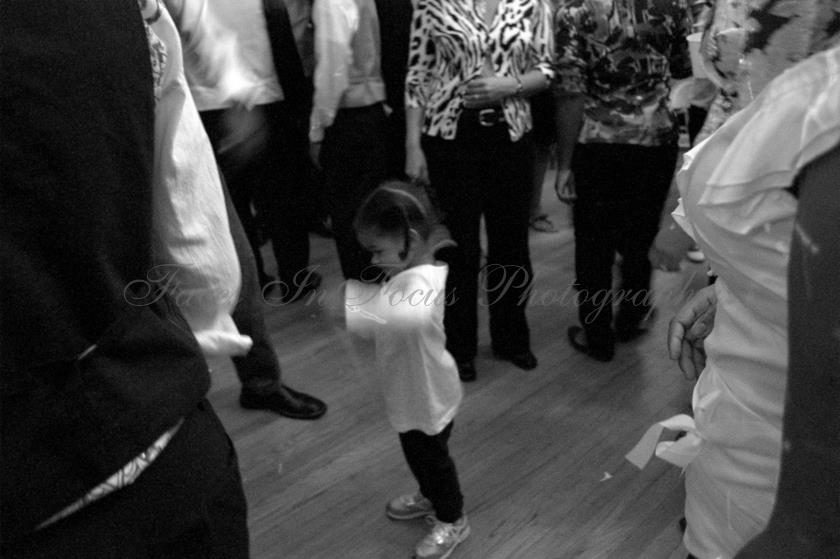 Little girl dancing - Burlington NC Wedding Photographer