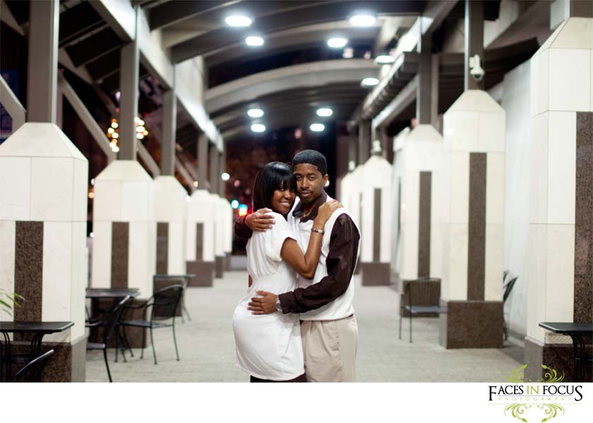 Downtown Raleigh engagement session.