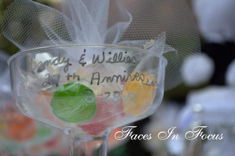 Details from an anniversary party in Burlington, NC.