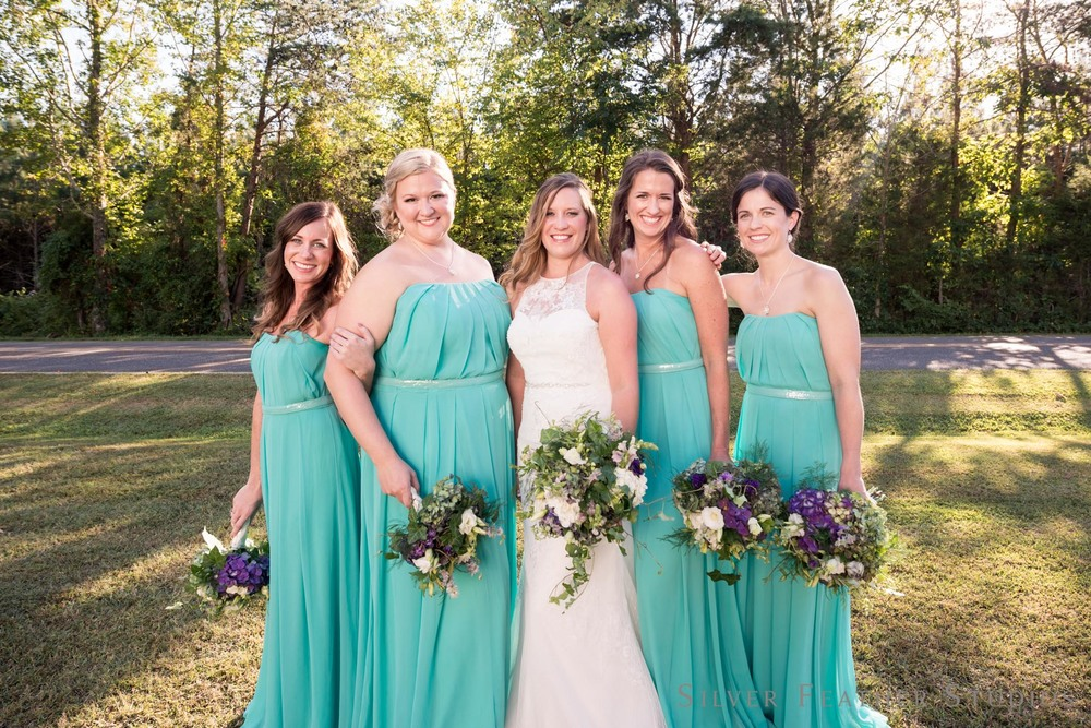 Turquoise countryside wedding in Blanch, by North Carolina Wedding Photographer, Silver Feather Studios.