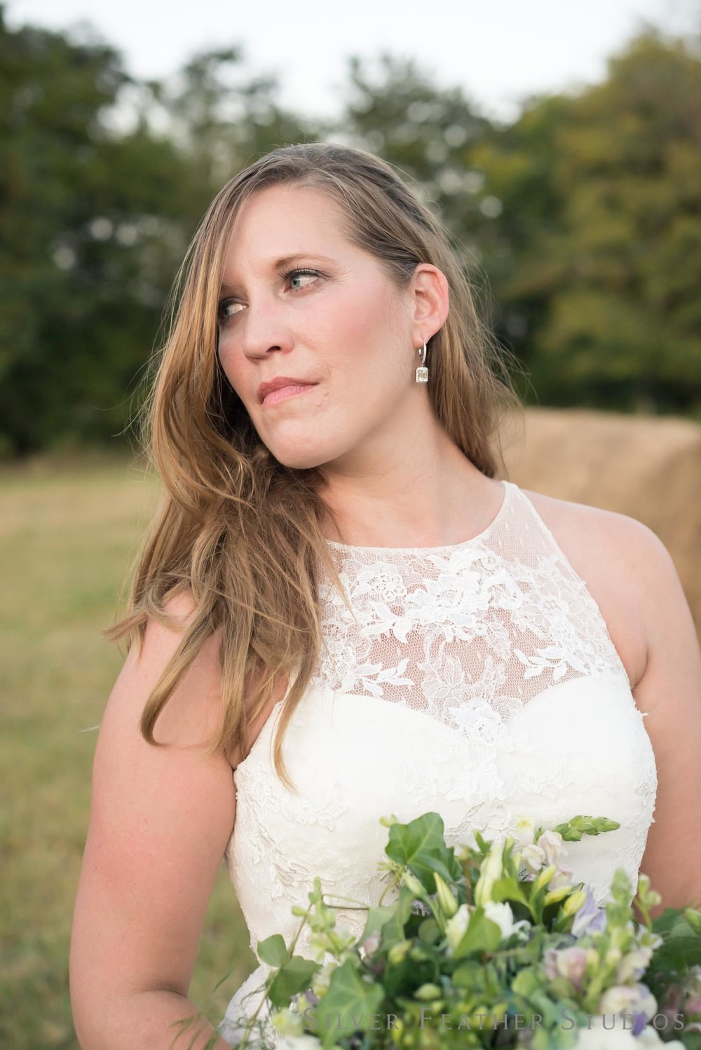 The stunning bride erin at her wedding at Seven Cedars Farm. Photography by Burlington wedding photographer, Silver Feather Studios