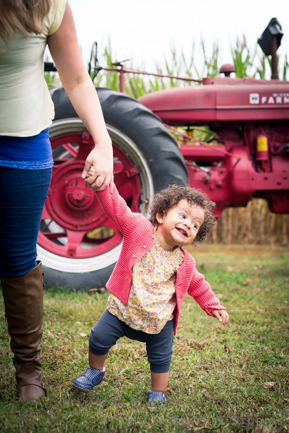 family photographs at mckee maze in rougemont, nc © Silver Feather Studios