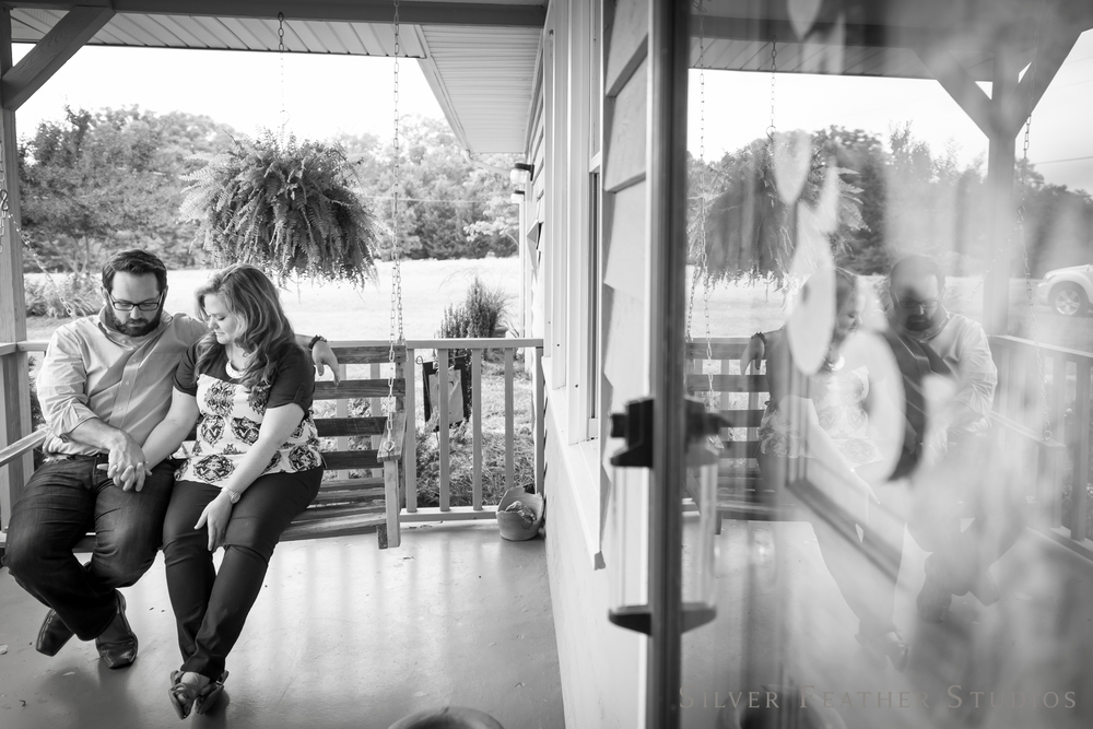 porch swings and reflections | jordan + heather © silver feather studios | lifestyle photographer in burlington