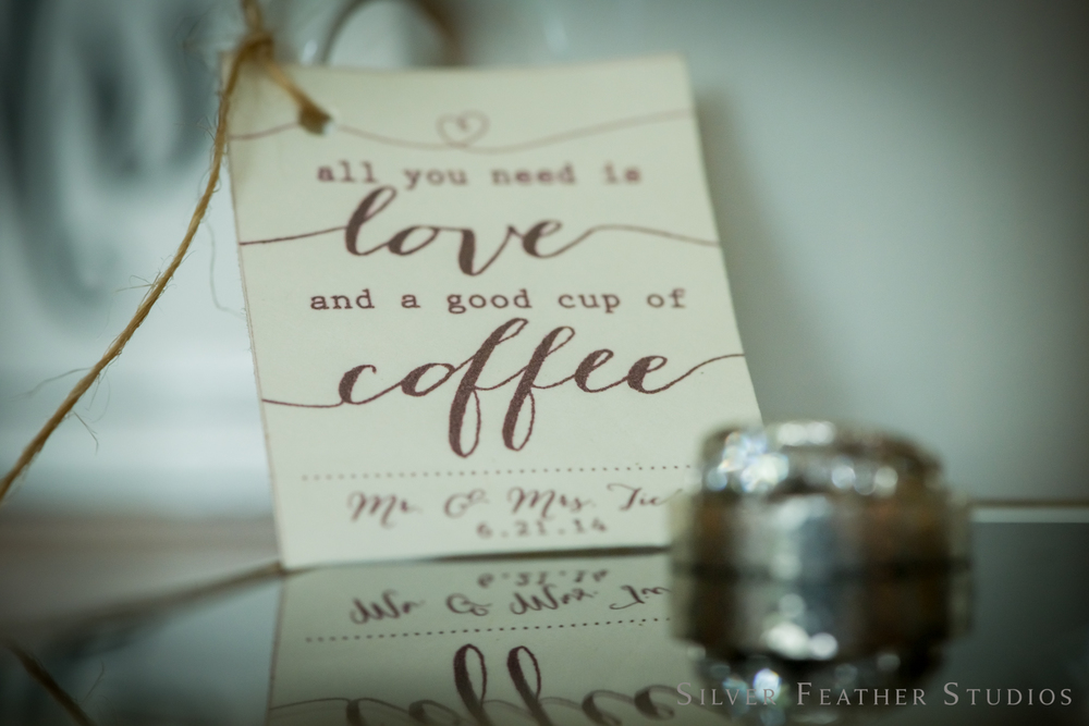 all you need is love and coffee © silver feather studios | wedding photographer in Greensboro.