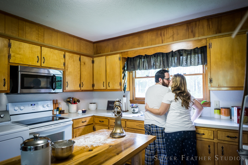a home lifestyle session complete with coffee and donuts © silver feather studios | greensboro wedding photographer