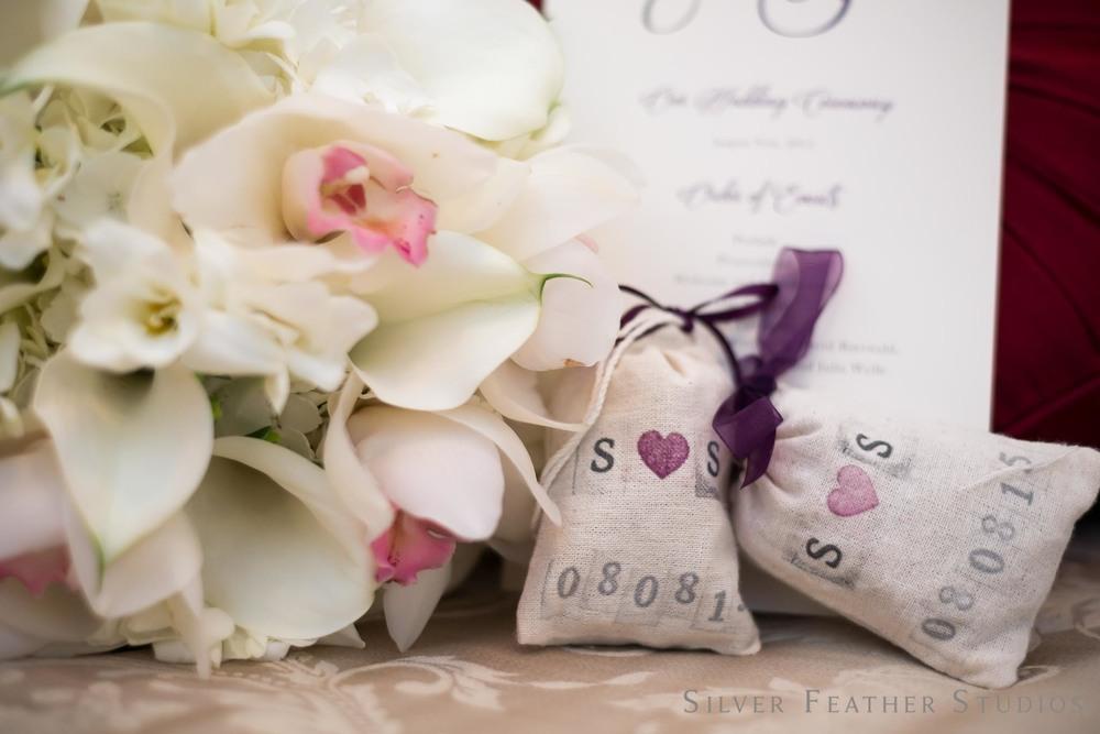 wedding favors at the highgrove. ©Burlington, NC wedding photographer, Silver Feather Studios
