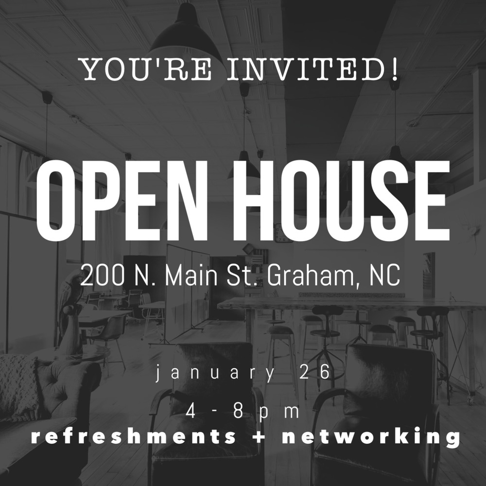Invitation to Open House at Cooperative | Graham Coworking Space
