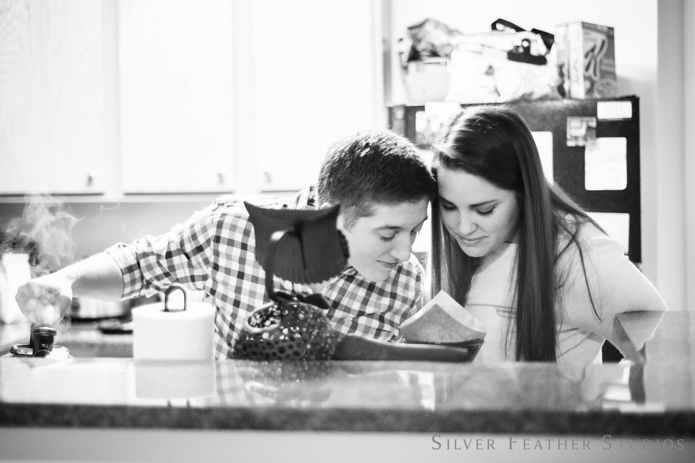 Lifestyle Engagement Session by Silver Feather Studios, Greensboro NC Wedding Photographer