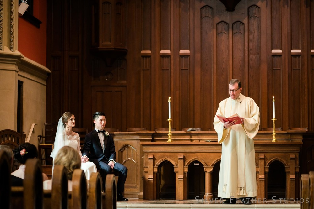 presbyterian wedding ceremony photographed by Silver Feather Studios.