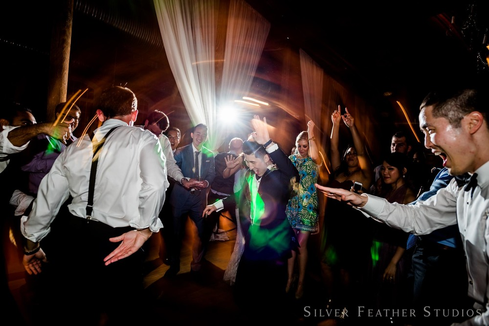 bunn dj keeps the party going at the cotton room. © silver feather studios, cotton room preferred vendor