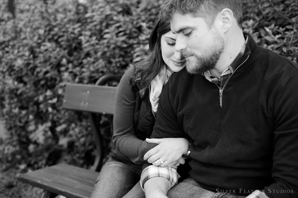 Old Salem engagement session by Winston Salem lifestyle photographer, Silver Feather Studios