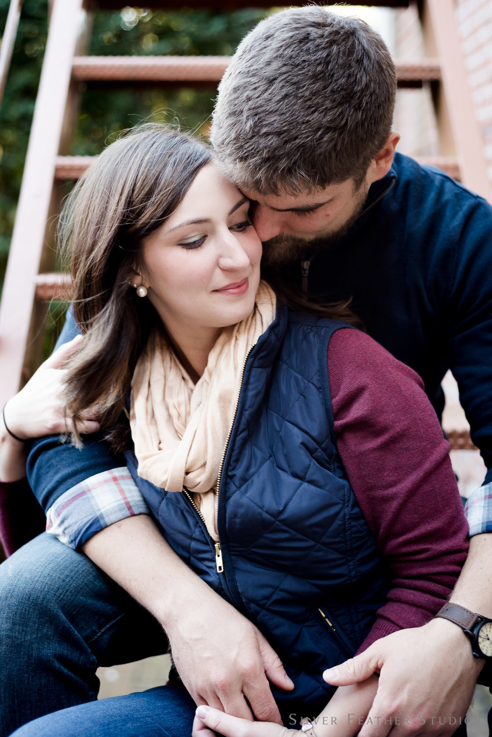 Old Salem engagement session by Burlington lifestyle photographer, Silver Feather Studios