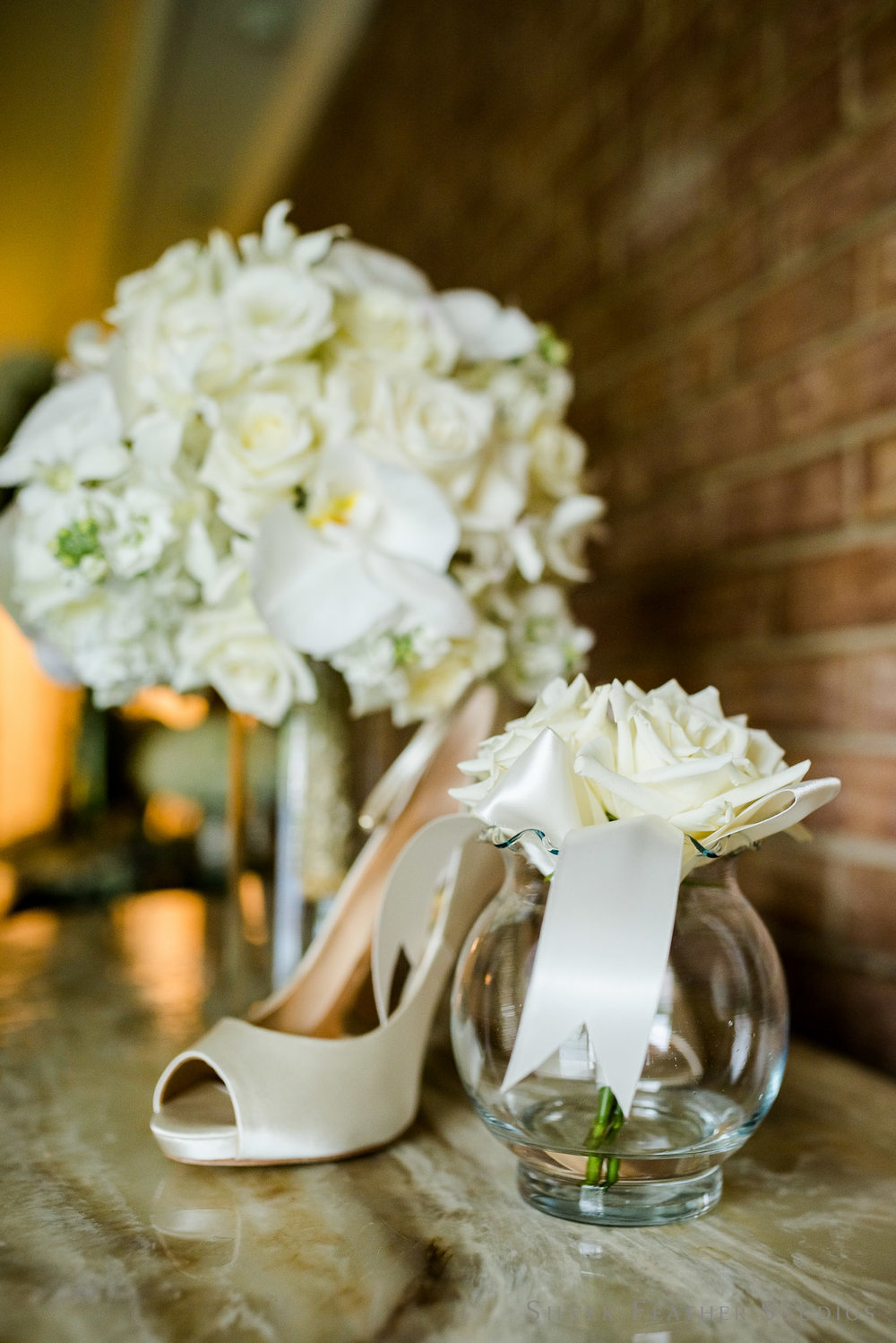stunning ivory bouquets by Fresh Affairs, floral and event designer in Raleigh. Image by Silver Feather Studios