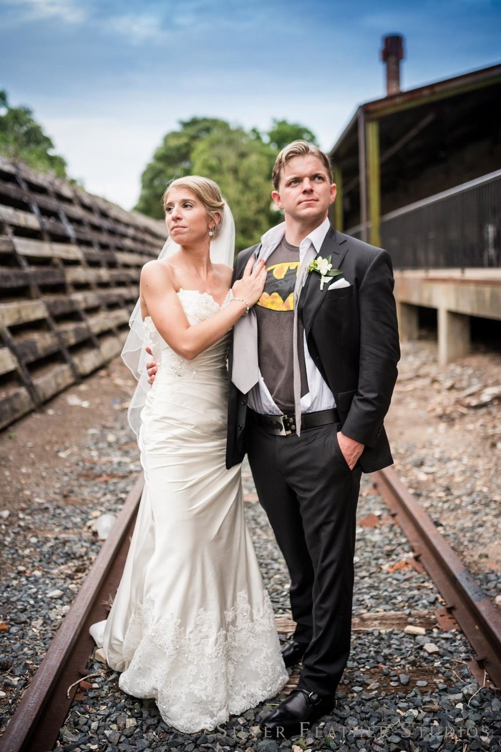 Amanda & John's Batman Inspired wedding at The Cotton Room by Silver Feather Studios