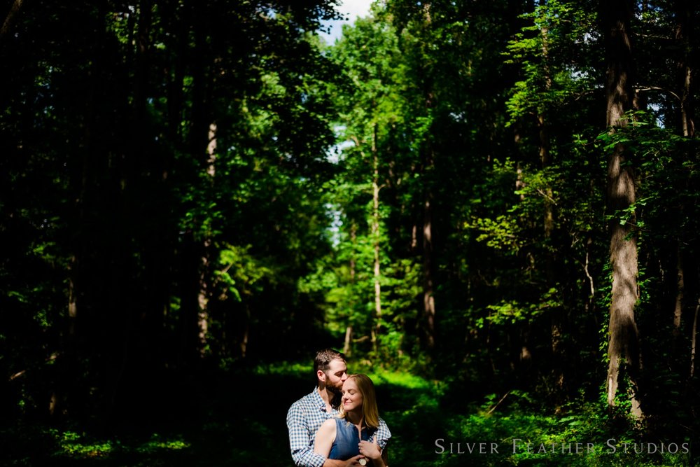 Lindsay & James Duke University Campus engagement by Ariana Watts, a burlington NC wedding photographer