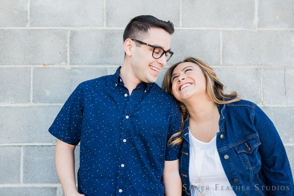 Jasmin & Dylan's downtown Raleigh engagement session by Silver Feather Studios.