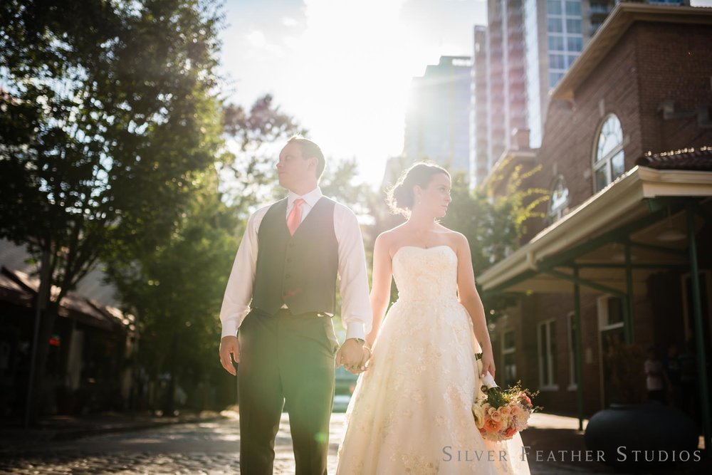 Hannah & Will's Market Hall wedding in Raleigh. Images by Burlington wedding photographer, Ariana Watts