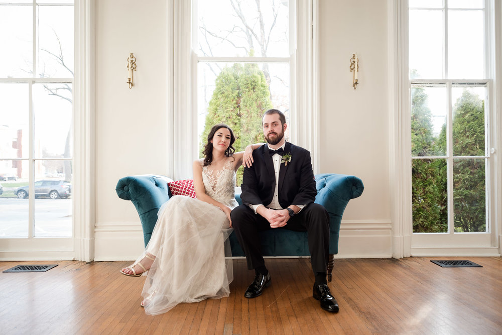 Winter wedding at Merrimon Wynne by Raleigh wedding photograher