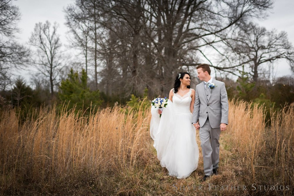 Winter Wedding at The W on Elm by Greensboro wedding photographer, Silver Feather Studios