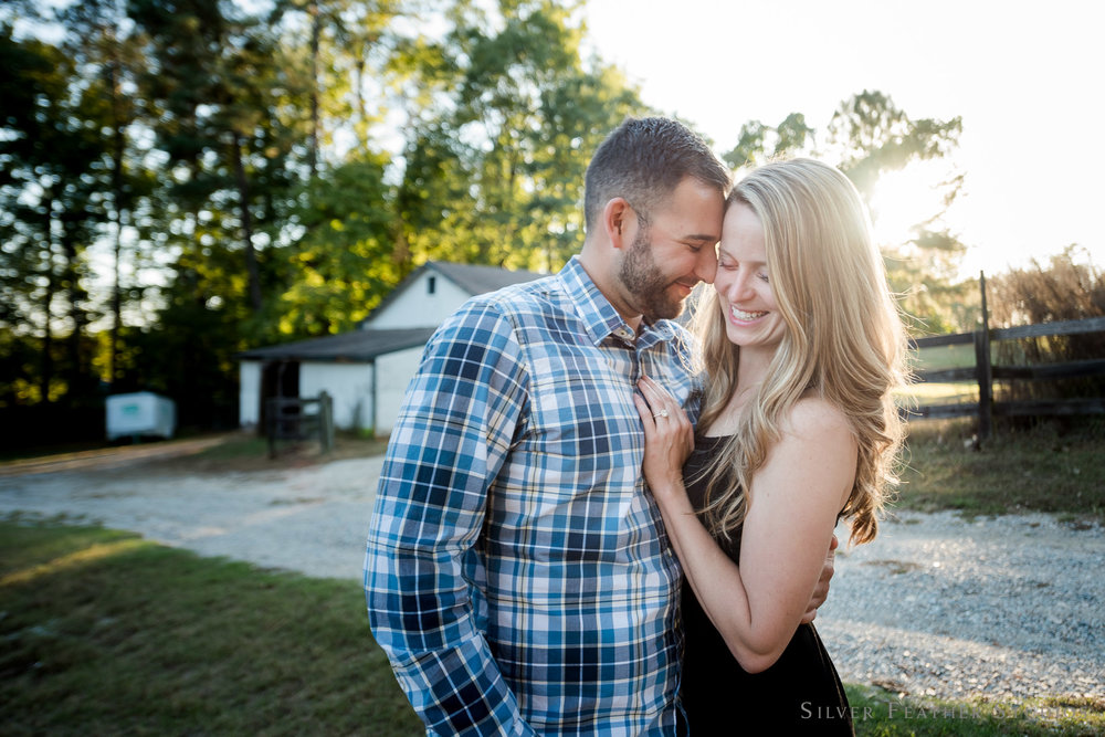 Alex & Mark's backyard engagement session in Apex | Apex wedding photograher