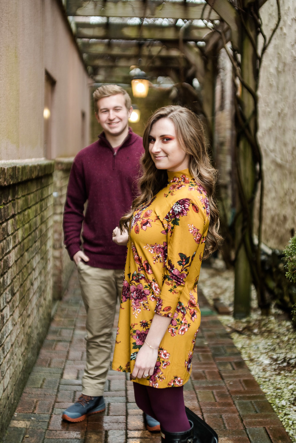 foggy engagement session in blowing rock