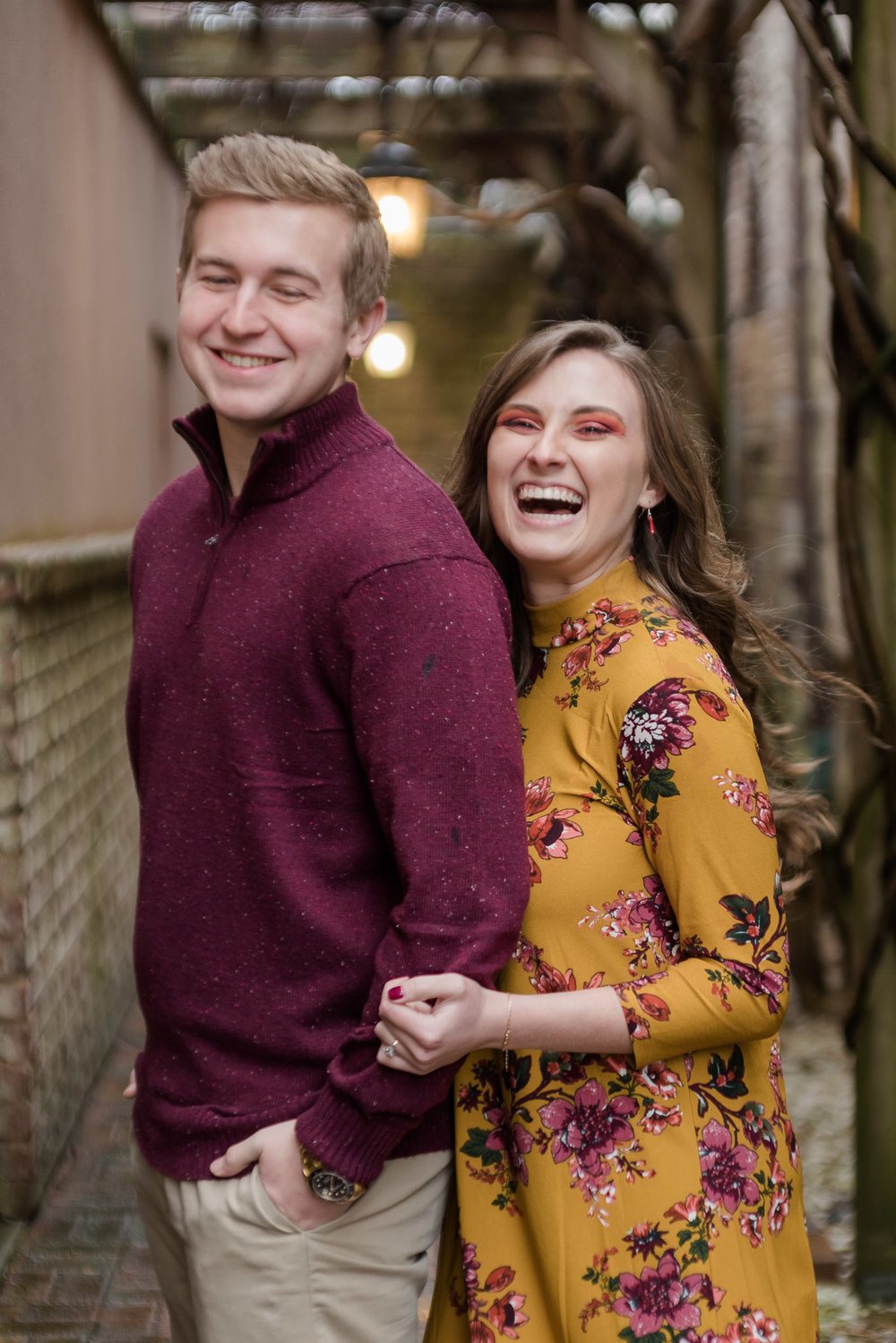 rainy blowing rock engagement session