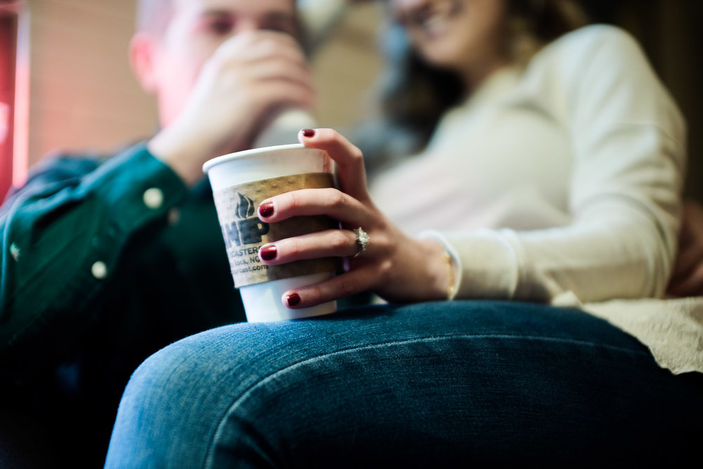 blowing rock engagement photos at camp coffee